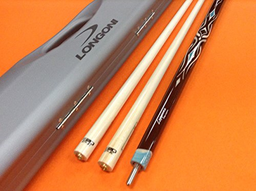 LONGONI CAROM CUE LEPPENS WITH S20 SHAFTS & CASE by LONGONI