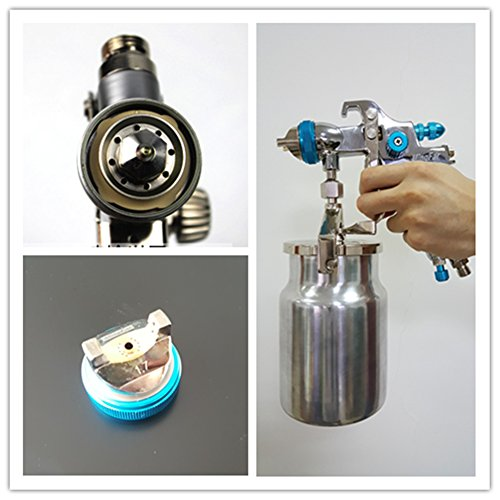 Professional HVLP Siphon Feed Spray Gun 1L Non-drip Paint Cup with Nozzle Tip Size 1.7mm by Shiningeyes (Image #2)
