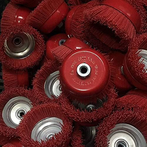 SNOWINSPRING 1 Pi/èce Roue de Brosse Abrasifs Pour Tasse 115 X M14 Outil Pour Meuleuse DAngle 4,5 Pouce Polym/ère Abrasive Batterie P80