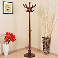 Yi Hai Home Solid Wood Hill Coat Rack-hat Hanger Coat Stand,cherry