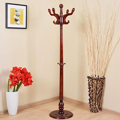 Yi Hai Home Solid Wood Hill Coat Rack Hat Hanger Coat