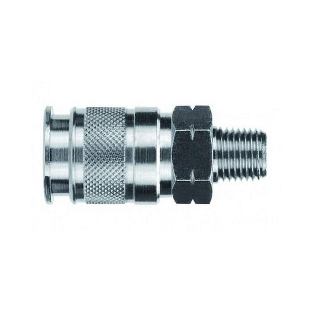 Nickel Plated Brass AIGNEP USA 80111-02 1//4 AC Mini Coupler x 1//8 Male NPTF Thread