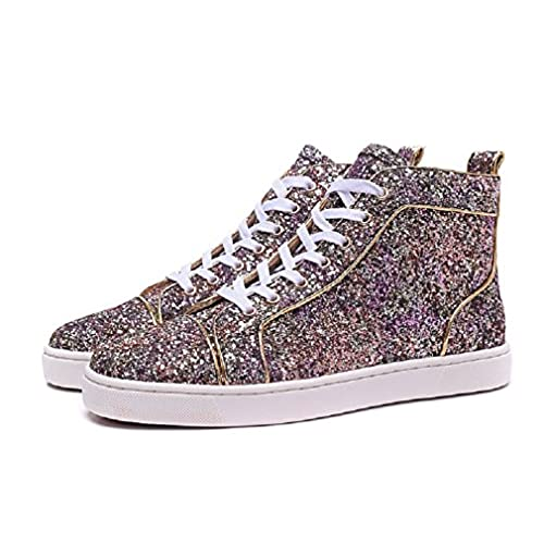 wholesale dealer a7498 10dc0 Sequined Purple Louboutin Women High Sneaker well-wreapped ...