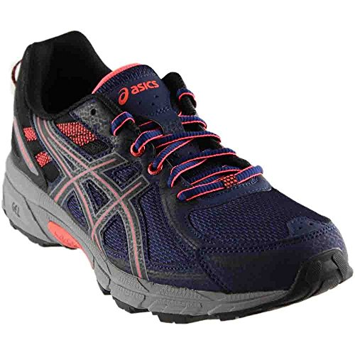 ASICS Women's Gel-Venture 6 Running-Shoes,Indigo Blue/Black/Coral,7 Medium US