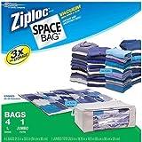 Ziploc Space Bag 4 Large and 1 Jumbo Tote