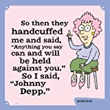 Tree-Free Greetings 60835 Hilarious Aunty Acid Premium Square ECOMagnet, 3.5 by 3.5-Inch, Johnny Depp