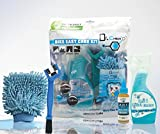 Jecr Bike Easy Care Kit - 4in1 Bicycle Cleaning Tool Set - Includes Micro Fiber Wash Mitt, Heavy Duty Chain Brush, 3in1 Chain Lube, and Polish Cleaner - Complete Cycling Wash Kit