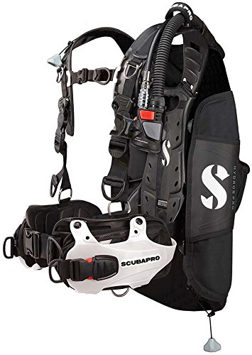 (Scubapro Hydros Pro w/5th Gen. Air2 Womens BCD - White Large)