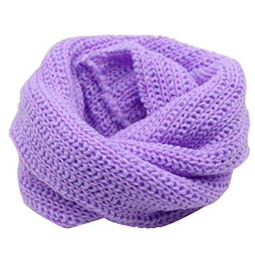 Naovio Baby Knitted Scarf Kids Winter Warm Infinity Scarf Versatile Neckerchief