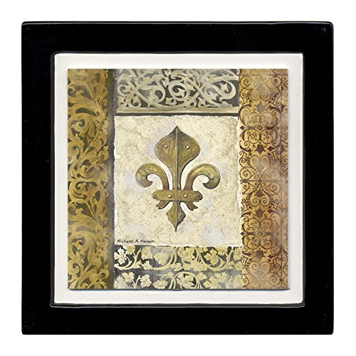 Thirstystone Ambiance Coaster Set, Fleur de Lis Element, Multicolored