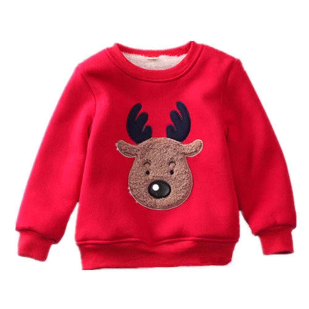 Motecity Little Girls' Sweatshirt Christmas