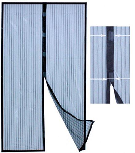 Insektenschutz Fliegengitternetz Fliegengittervorhang - Türvorhang mit 18 starken Magneten Mückennetz Fliegennetz Türen Insektenschutz Fliegengitter Moskitonetz Insektennetz von M&H-24 (1)