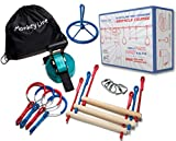 Ninja Warrior Training Equipment For Kids 40' Feet   W/ SPINNER   THE PERFECT Outdoor Ninja Line Hanging Obstacle Course   American Ninja Warrior Obstacle Kit