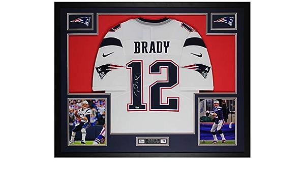 Tom Brady Autographed White New England Jersey - Beautifully ...
