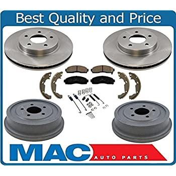Front Rotors Ceramic Pads For 2006 Torrent 2005 2006 Chevy Equinox 02-06 Vue