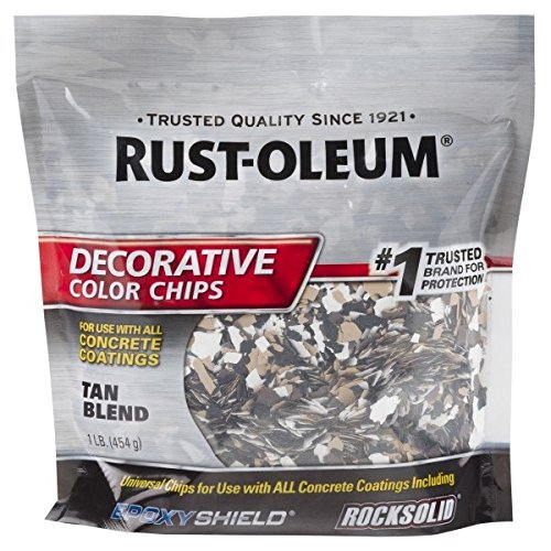 Rust-Oleum 312447 Tan Blend, 1 lb. Bag Decorative Color Chips