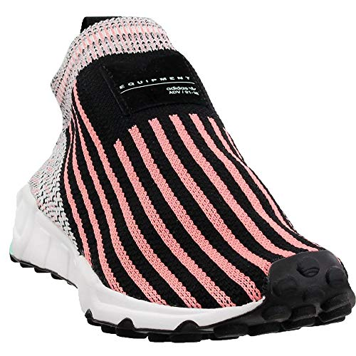 adidas Womens EQT Support Sock Primeknit Casual Sneakers, Black, 7