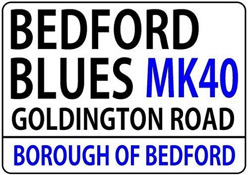 Desk Laptop Bedford (Dozili Bedford Blues London Street Road Style Metal Sign ES Rugby Union Rufc Gift Plaque 12