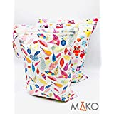 LabsByMAKO 2 Pack Waterproof Zipper Wet Diaper Bag