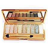 Eyeshadow Palette Matte Shimmer,8 Colors Eye Shadows Professional Powder Makeup Set for Natural Smoky Cosmetic (Type-06)
