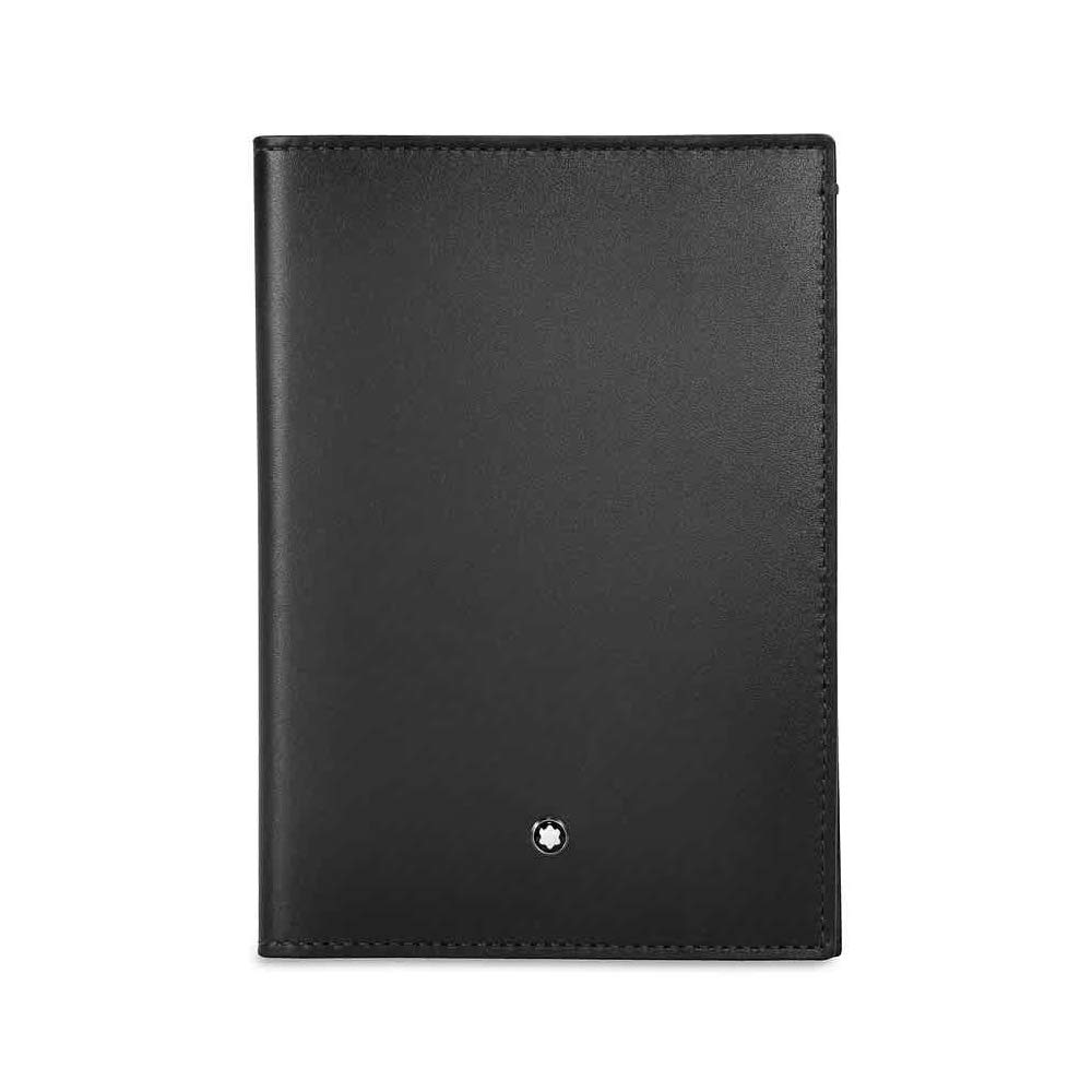 Montblanc Meisterstuck International Passport Holder in Sfumato Black Leather 113169