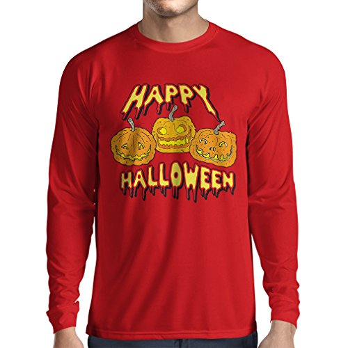 Long Sleeve t Shirt Men Happy Halloween! Party Outfits & Costume - Gift Idea (XX-Large Red Multi Color)]()