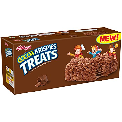 ispies Treats, Crispy Marshmallow Squares, Chocolate, Single Serve, 0.70 oz Bars (8 Count) ()