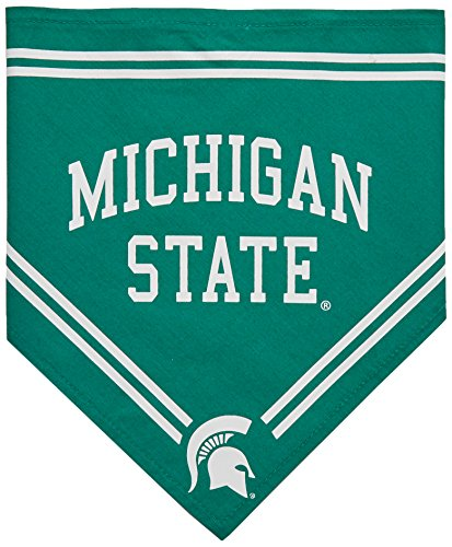 Collegiate Michigan State Spartans Pet Bandana, Small - Dog Bandana must-have for Birthdays, Parties, Sports Games etc..