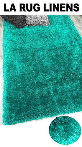 8-Feet-by-10-Feet Pile Rug Fluffy Fuzzy Modern Home Store Solid Kitchen Outdoor Indoor Bedroom Living Room Throw Carpet Floor Shag Rug Light Blue Dark Blue Aqua Blue Turquoise ( Romance Turquoise )
