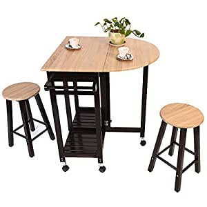 kitchen island cart with stools 3pc wood kitchen island rolling cart set 8157