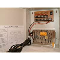 9 Channels 12V DC Regulated Distributed Power Supply panel individually fused 5 AMP Total Output, 1.1 AMP Output per Channel plus PTC Reset-able Fuse