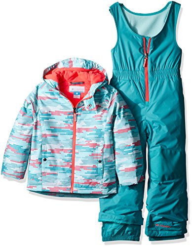 Columbia Little Girls' Frosty Slope Set, Miami Dot Print, X-Small by Columbia