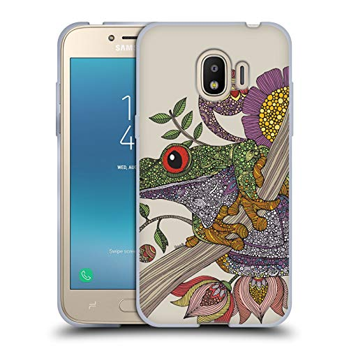 Official Valentina Phileus Frog Animals and Floral Soft Gel Case for Samsung Galaxy J2 Pro -