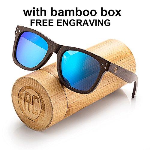 Awerise Personalized Wooden Polarized Sunglasses Unisex Custom Wood Sunglasses Groomsmen gift Birthday gift (Sunglasses with wood box, - Custom Sunglasses Box