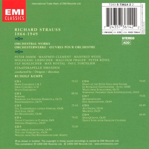 Strauss: Orchestral Works by EMI Classics