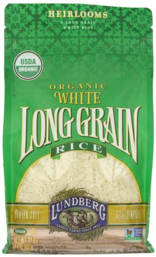 Lundberg White Rice, Long Grain, Gluten Free, Organic, 2 lb