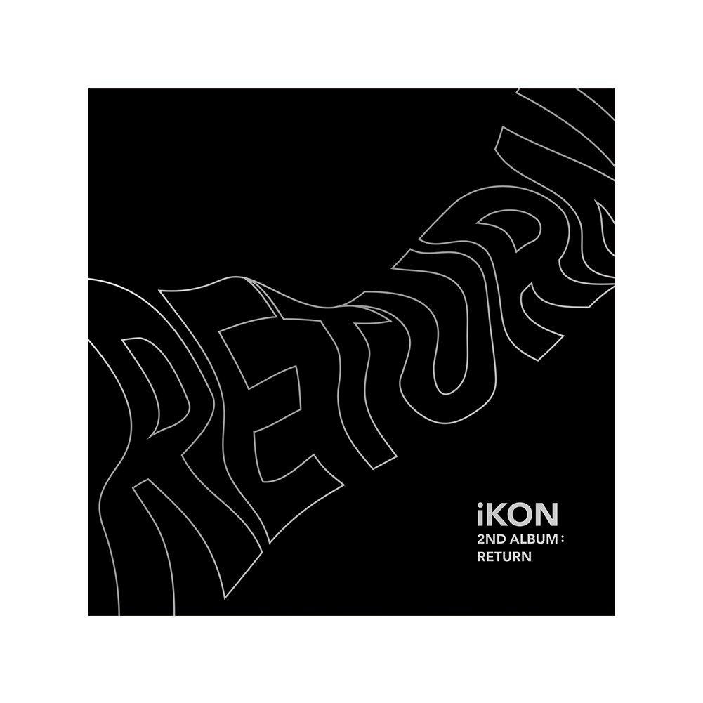 YG Entertainment Idol Goods Fan Products YGeShop iKON 2nd Album: Return CD + PHOTOBOOK + Lyric Book + 8 Postcards + Photocard + Selfie Photocard + Photo Film + Sticker + Poster BLACK Ver.
