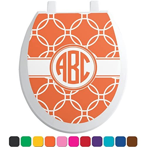 hot sale Linked Circles Toilet Seat Decal - Round (Personalized)