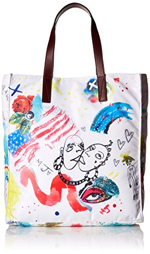 Marc Jacobs Byot Collage Print Ns Tote, Off White Multi, One Size