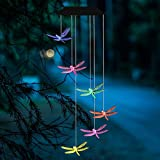 AVEKI Solar Wind Chimes Outdoor, Color-Changing