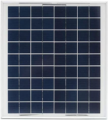 XULJ Sonnenkollektor 12V 10W Aluminium Rahmen Polykristalline Solar-Panel mit Anschlussdose Solar-Panel tragbar (Color : Black, Size : 10W)