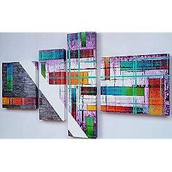 Cuadro Moderno Minimalista multicolor