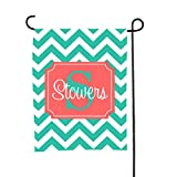 Tin Tree Gifts Customized Garden Flag Aqua Coral Welcome Sign Review