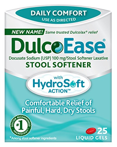 - DulcoEase Stool Softener with HydroSoft Action, 25 Liquid Gels (Pack of 2)