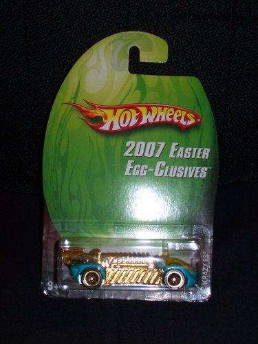Mattel Hot Wheels 2007 Easter Egg-Clusives Series 1:64 Scale Die Cast Metal Car L4702 - Blue Dragster with Golden Engine KRAZY 8S