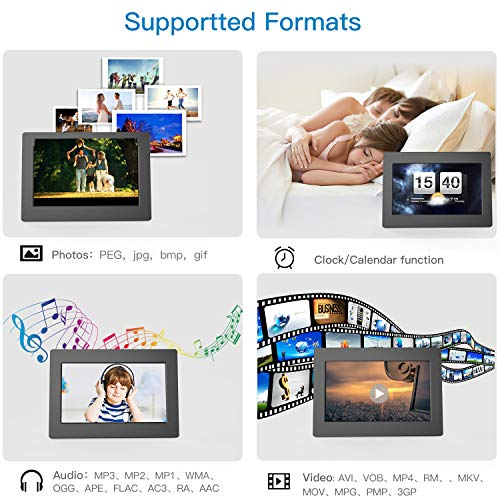 Digital Picture Frame 10 Inch Widescreen - 1280 x 800 IPS Hi-Res Digital Photo & HD Video Frame with Video Player, MP3, Calendar, Zoom in, Create Slideshows with Remote Control by Pipishell (Image #2)