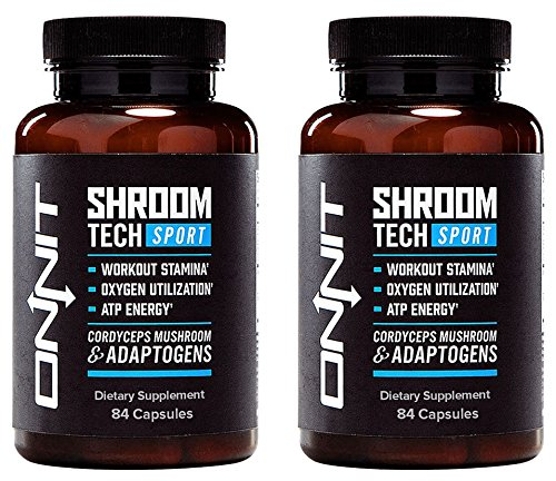 Onnit Shroom Tech Sport: Clinically Studied Preworkout Supplement with Cordyceps Mushroom (168ct)