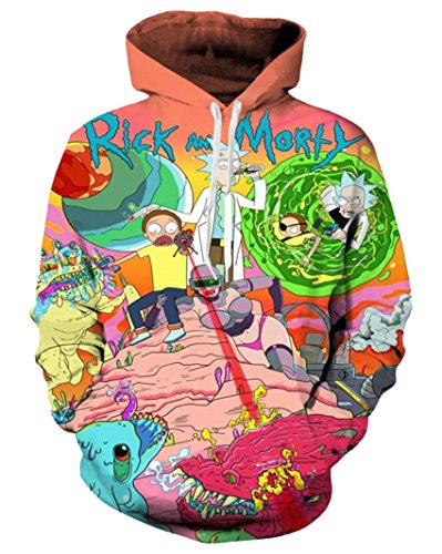 Takra Gold Hoodie Sweater Men Rick and Morty