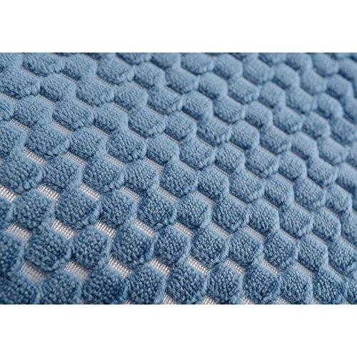 Coussin damier en velours bleu nuit 40X40 cm Amadeus