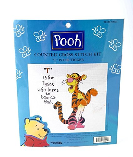 T is for Tigger Counted Cross Stitch Kit (Stitch Tigger Cross)